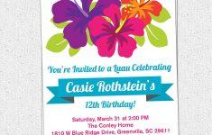 Free Printable Luau Baby Shower Invitations