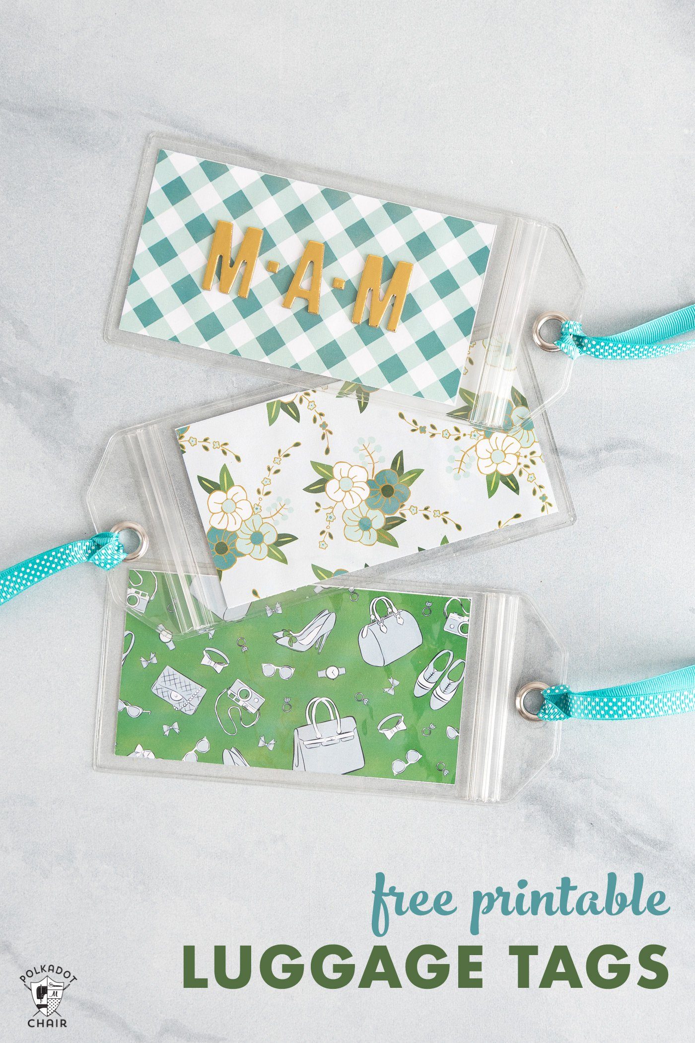 Free Printable Luggage Tags - The Polka Dot Chair - Free Printable Luggage Tags