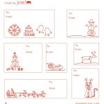 Free Printable: Madejoel » Holiday Gift Tag Templates   Christmas Labels Free Printable Templates