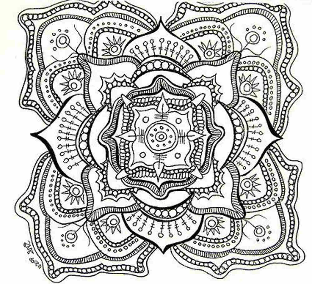 Free Printable Mandala Coloring Pages For Adults | Adult Coloring - Free Printable Coloring Books For Adults