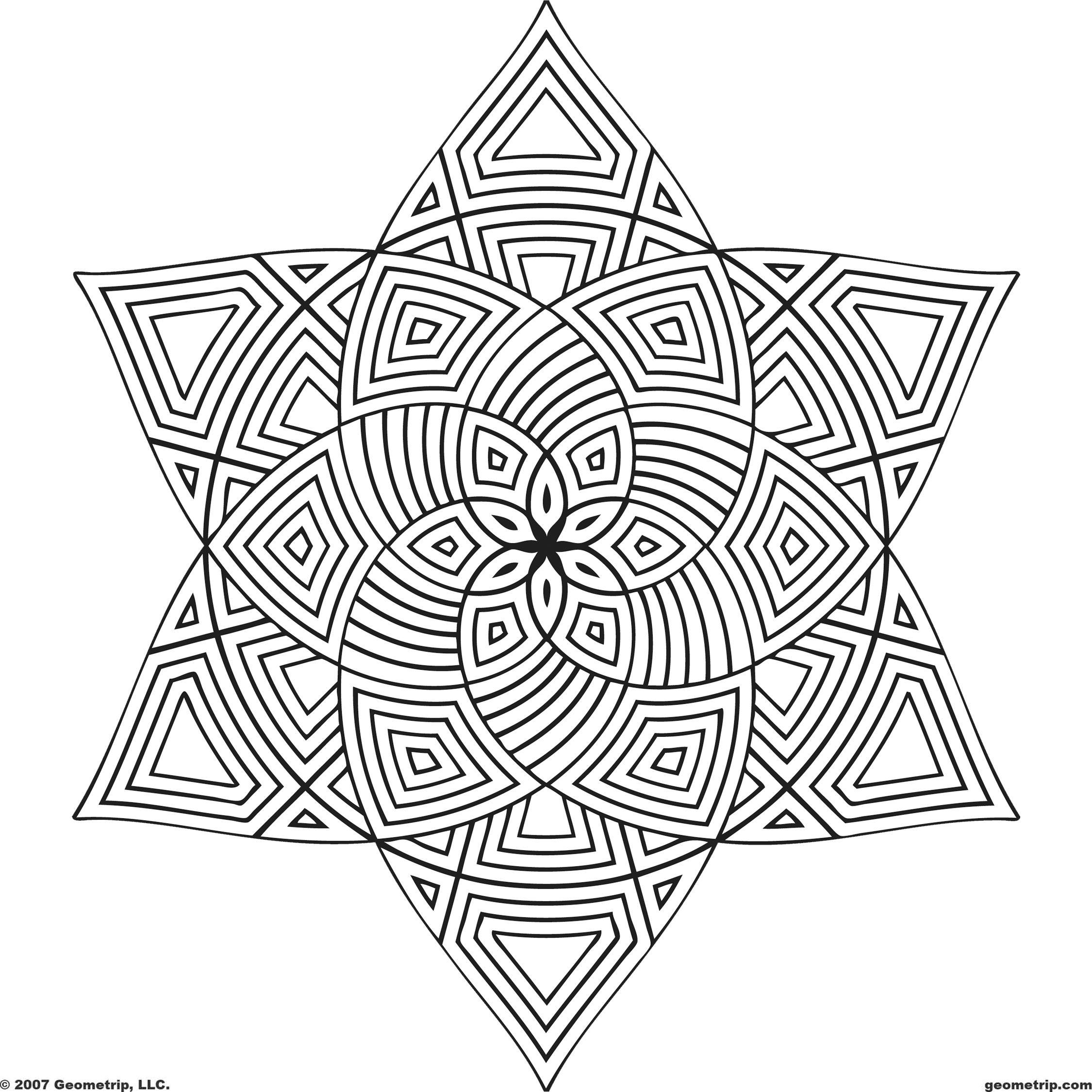 Free Printable Mandala Coloring Pages   Shapes: Page 1 Of 2 - Free Printable Mandala Coloring Pages