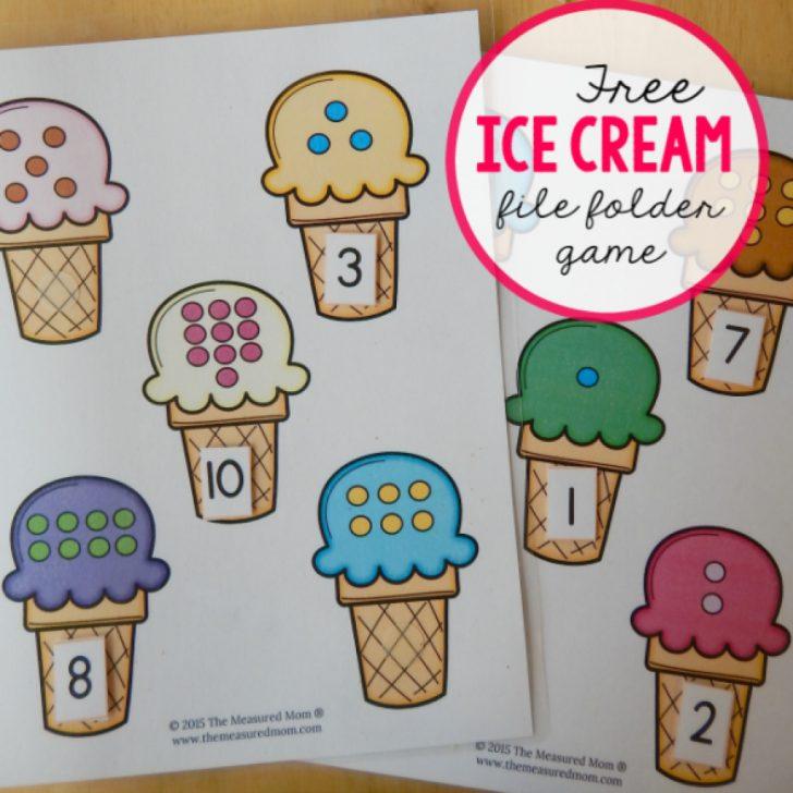 Free Printable Math File Folder Games For Preschoolers