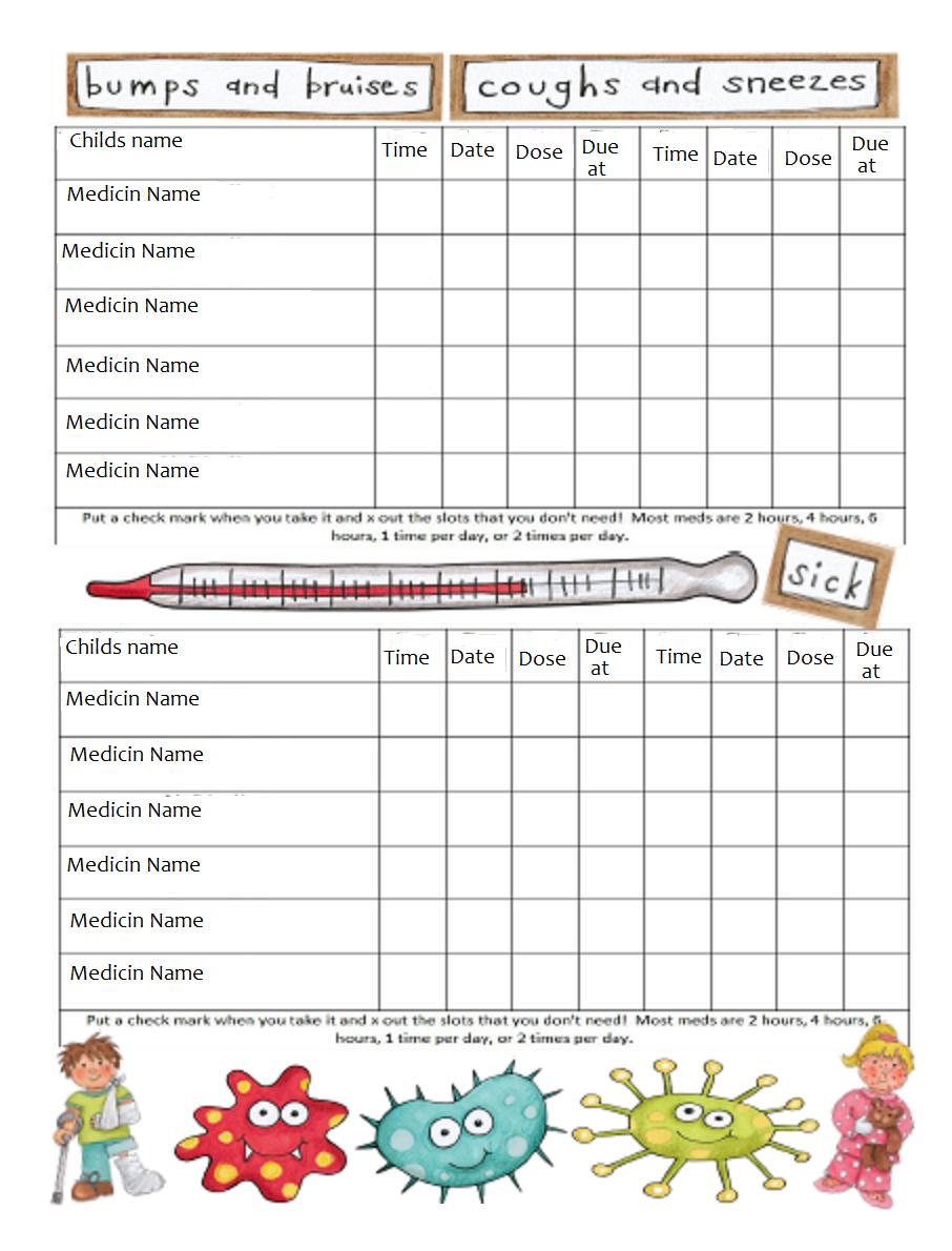 Free Printable Medicine Chart | Jourenal Ideas | Pinterest | Charts - Free Printable Medication Chart