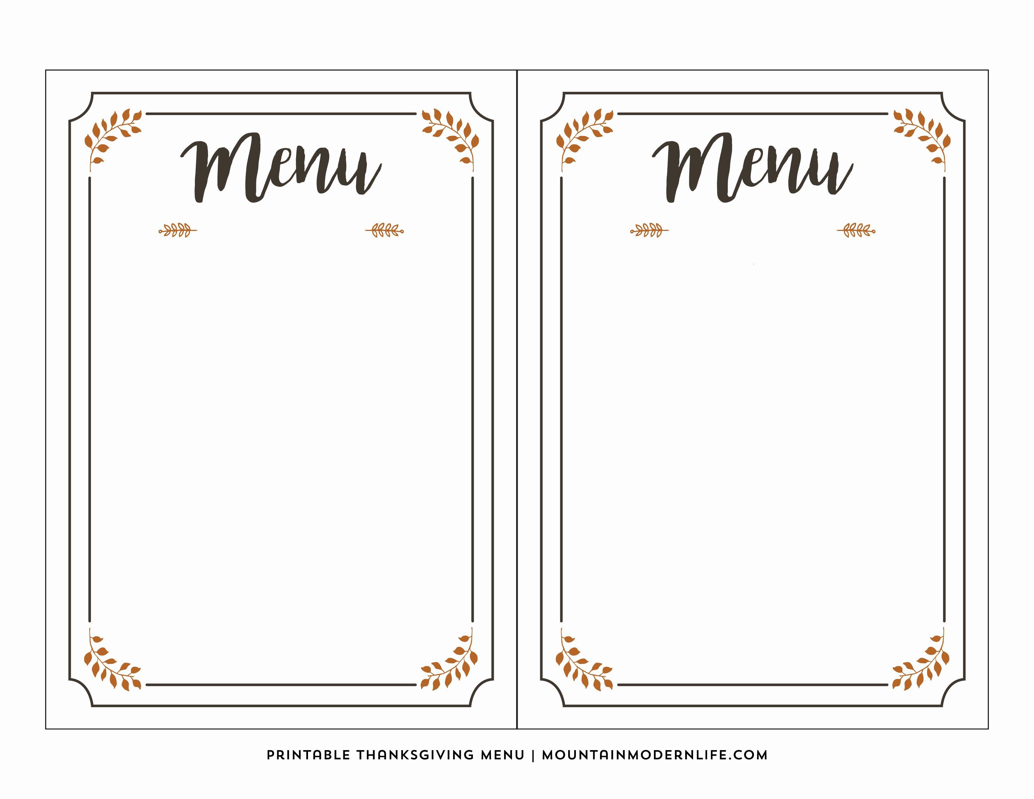 Free Printable Menu Template | Latter Example Template - Free Printable Menu Maker