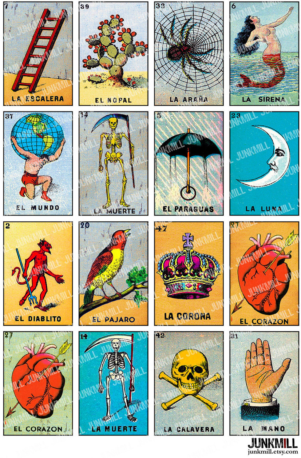 Free Printable Mexican Loteria Cards - Printable Cards - Free Printable Loteria Cards
