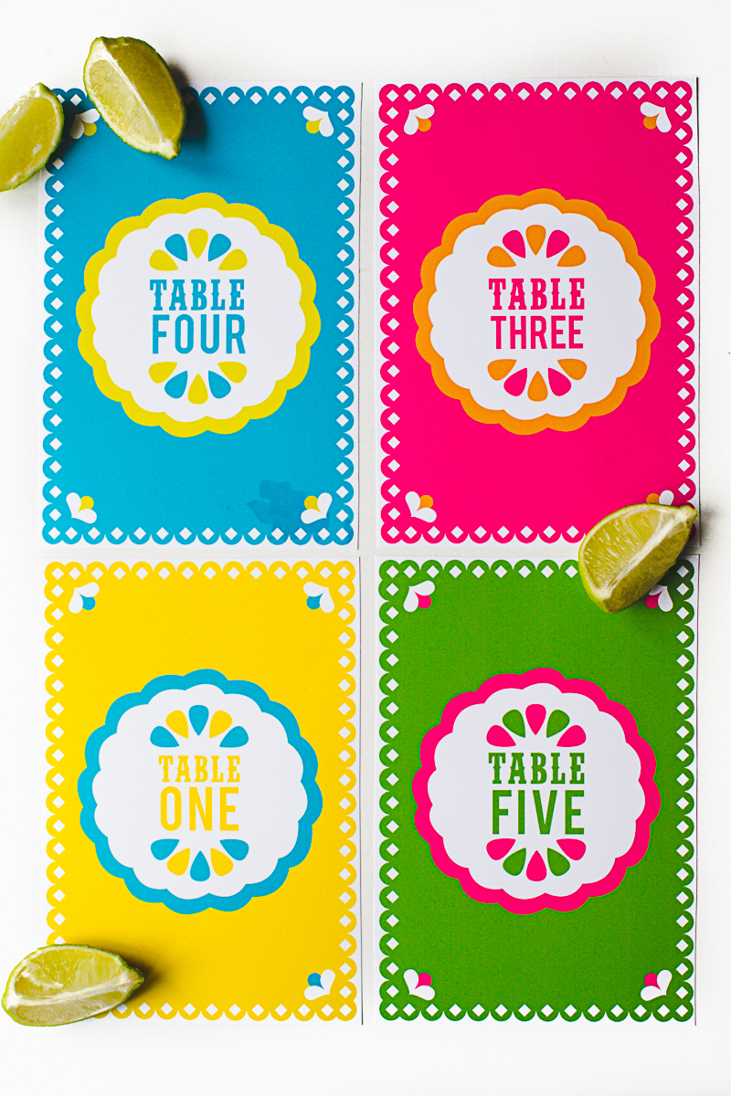 Free Printable Mexican Themed Table Numbers | Bespoke-Bride: Wedding - Free Printable Fiesta Invitations