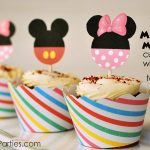 Free Printable Mickey & Minnie Mouse Cupcake Wrappers And Toppers   Free Printable Minnie Mouse Cupcake Wrappers