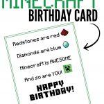 Free Printable Minecraft Birthday Card | Papercrafting | Minecraft   Free Printable Birthday Cards For Dad