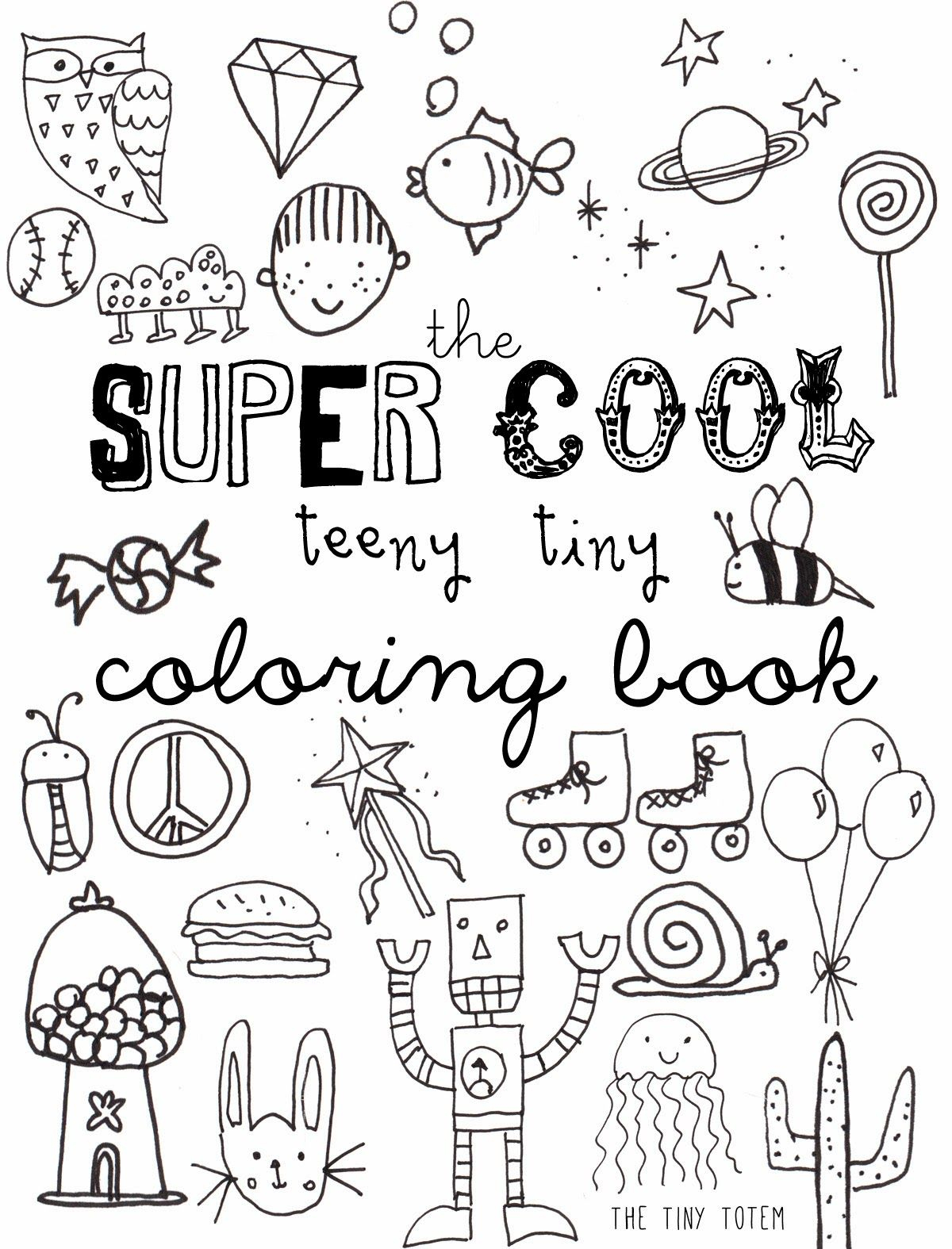 Free Printable Mini Coloring Book From The Tiny Totem | Teaching - Free Printable Mini Books