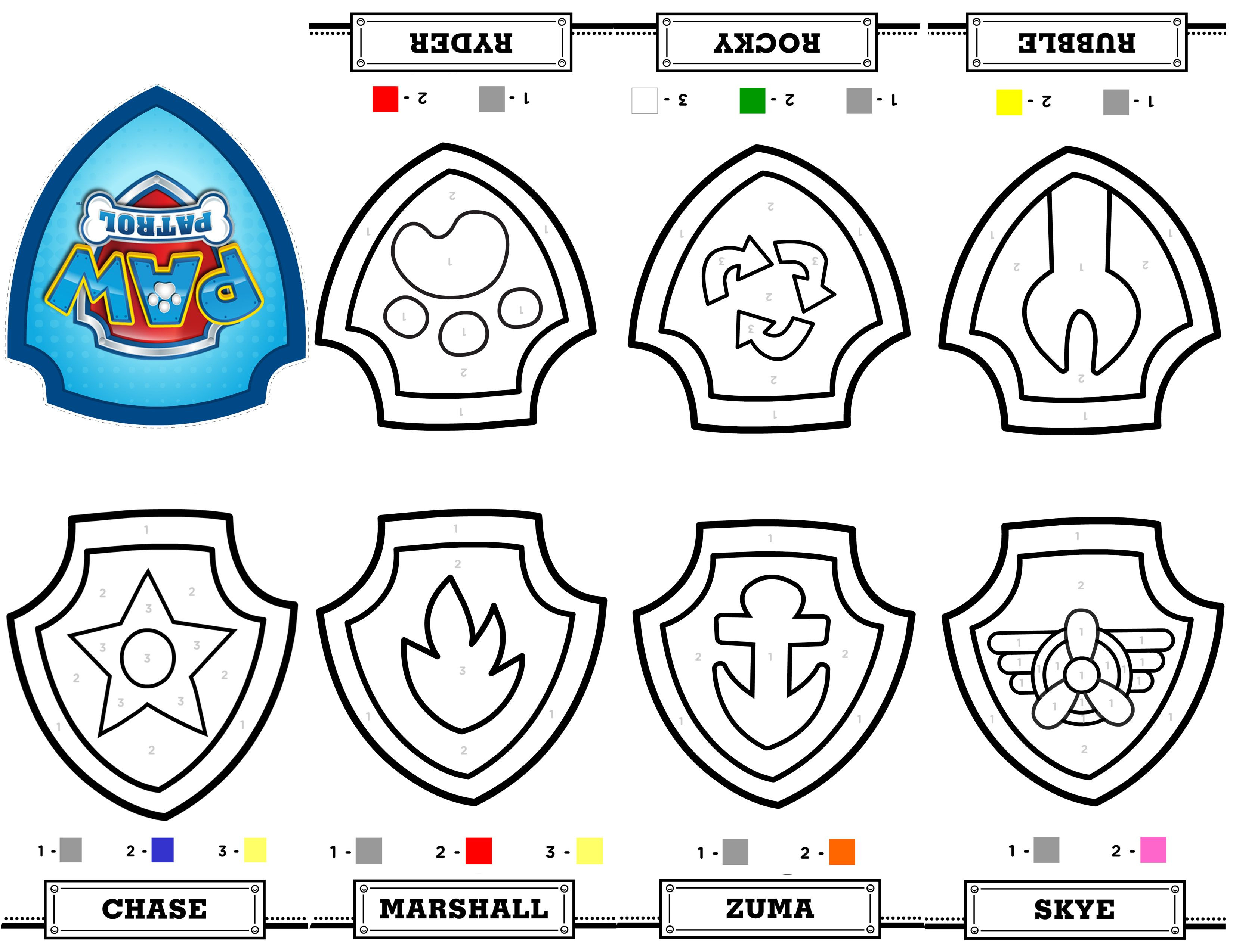 Free Printable Mini Paw Patrol Coloring Book From A Single Sheet Of - Free Printable Badges