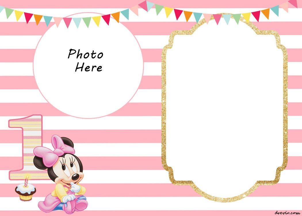 Free Printable Minnie Mouse 1St Invitation | Free Printable - Free Printable Mickey Mouse 1St Birthday Invitations