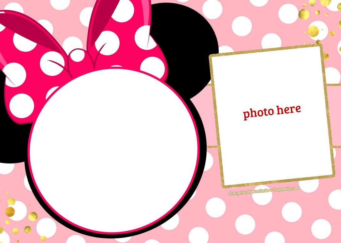 Free Printable Minnie Mouse Birthday Invitation Birthday - Classy World - Free Printable Minnie Mouse Party Invitations