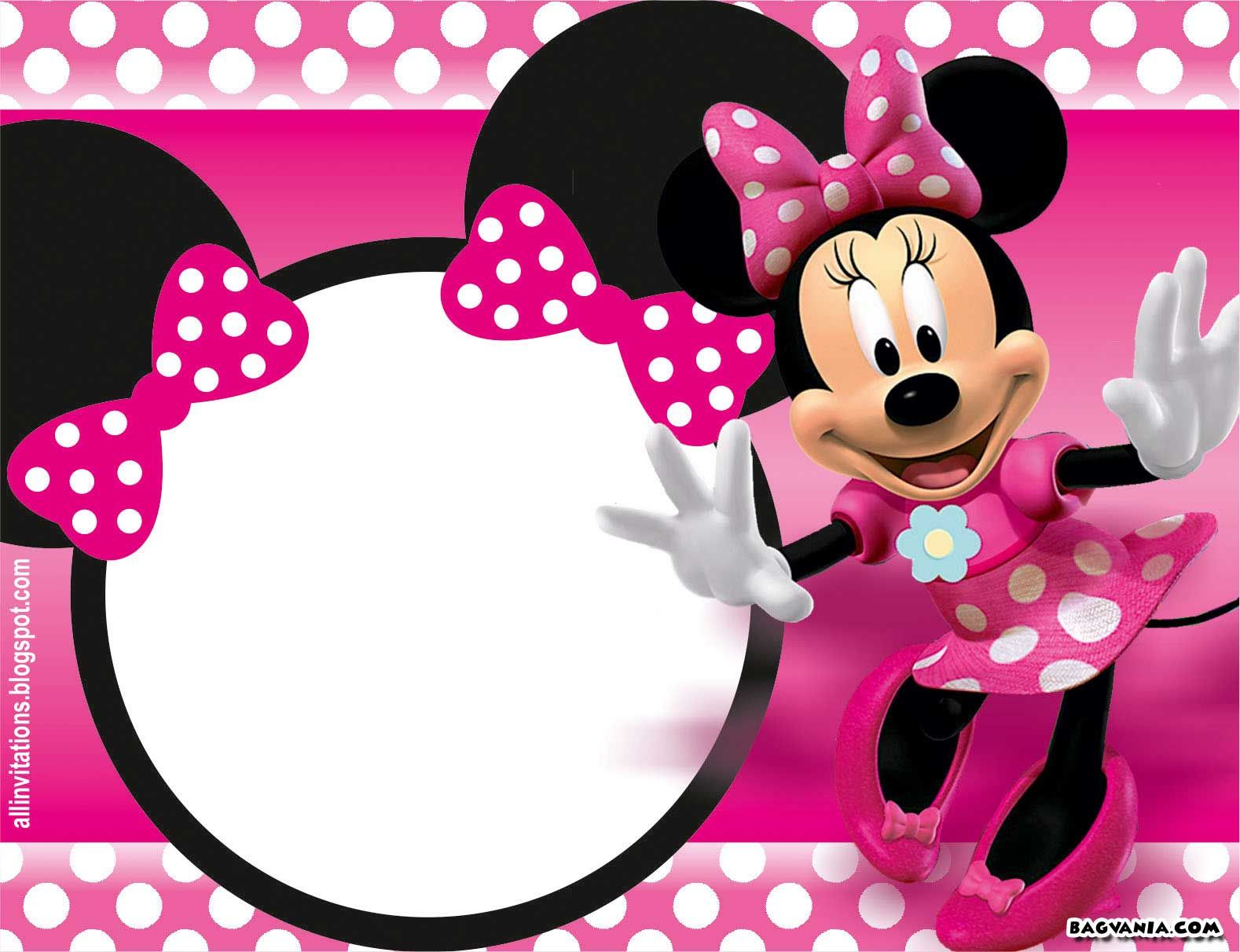 Free Printable Minnie Mouse Birthday Invitations – Bagvania Free - Free Printable Mickey Mouse Invitations