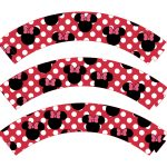 Free Printable Minnie Mouse Cupcake Wrappers 1   Baby No Soucy   Free Printable Minnie Mouse Cupcake Wrappers