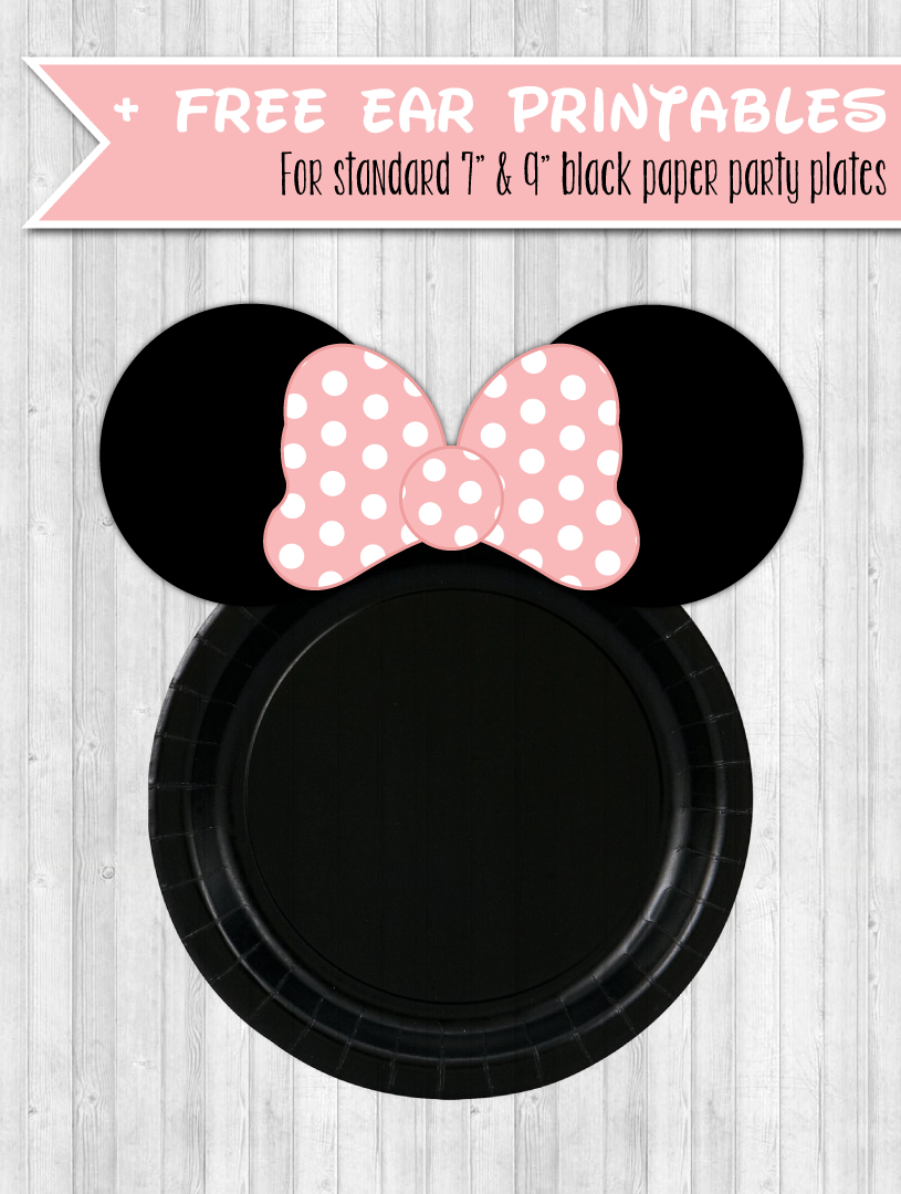 Free Printable Minnie Party Plate Ears | Parties Full Of Wonder - Free Printable Minnie Mouse Ears Template