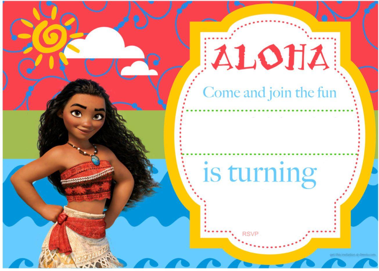 Free Printable Moana Birthday Invitation And Party | Free - Free Moana Printable Invitations
