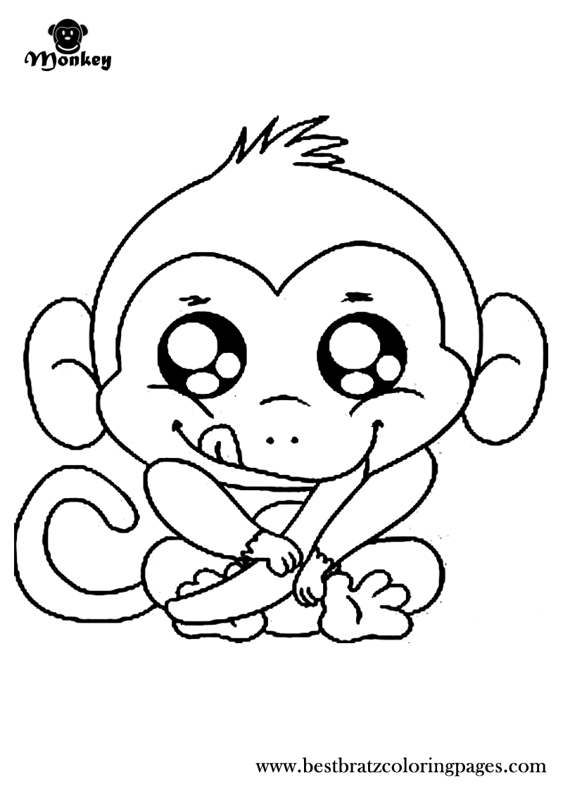 Free Printable Monkey Coloring Pages For Kids | Coloring Book - Free Printable Monkey Coloring Sheets
