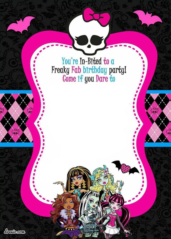 Free Printable Monster High Birthday | Free Printable Birthday - Monster High Cupcake Toppers Printable Free