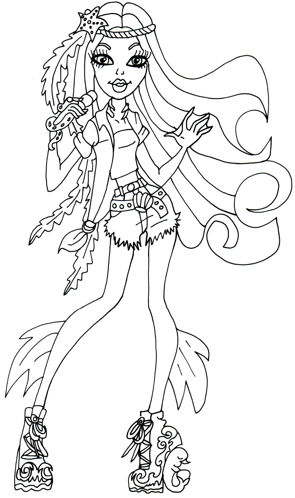 Free Printable Monster High Coloring Page For Madison Fear | Color - Monster High Free Printable Pictures