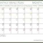 Free Printable Monthly Menu Plan | Printable Forms, Etc. | Pinterest   Free Printable Monthly Meal Planner