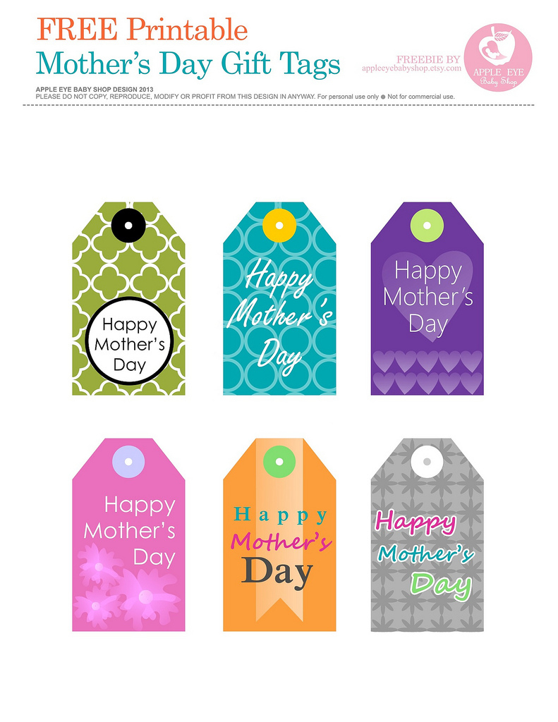 Free Printable | Mother's Day Gift Tagsapple Eye Baby … | Flickr - Free Printable Mothers Day Gifts