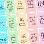 Free Printable Motivational Gym & Fitness Planner Stickers – Free Printable Happy Planner Stickers