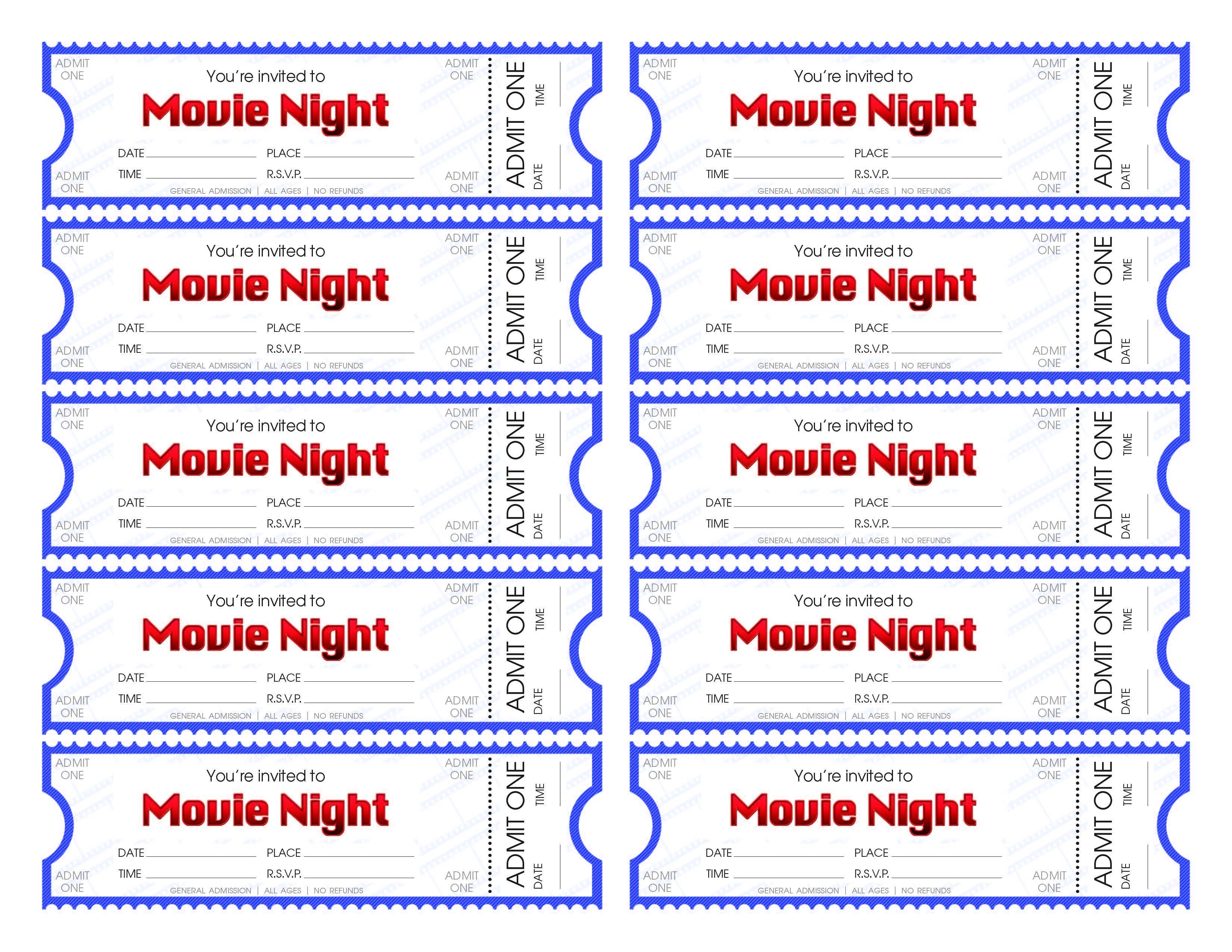 Free Printable Movie Tickets | Bestprintable231118 - Make Your Own Tickets Free Printable