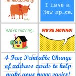 Free Printable Moving Announcement Change Of Address Card – Premier   We Are Moving Cards Free Printable