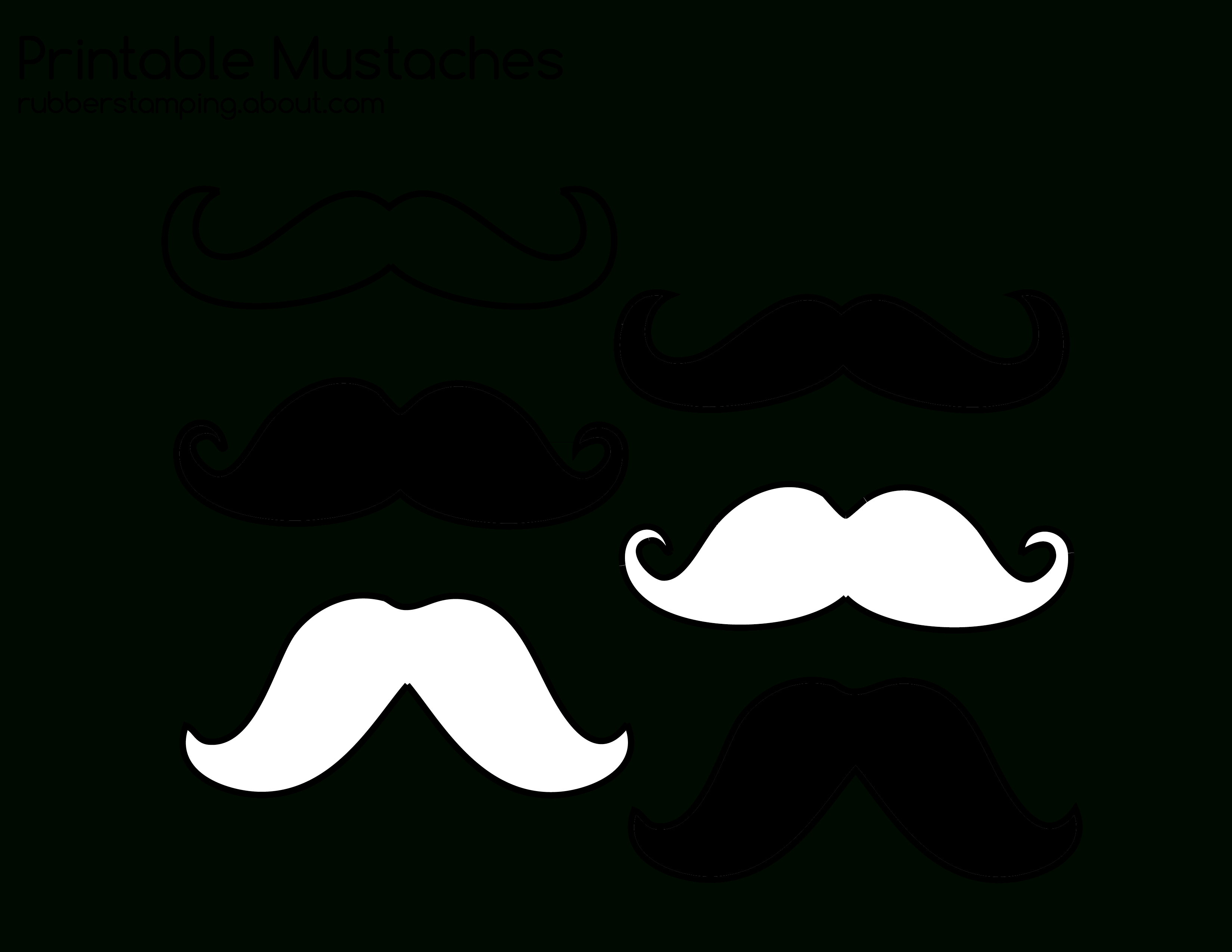 Free Printable Mustache Images | Diy | Mustache Crafts, Mustache - Free Printable Mustache
