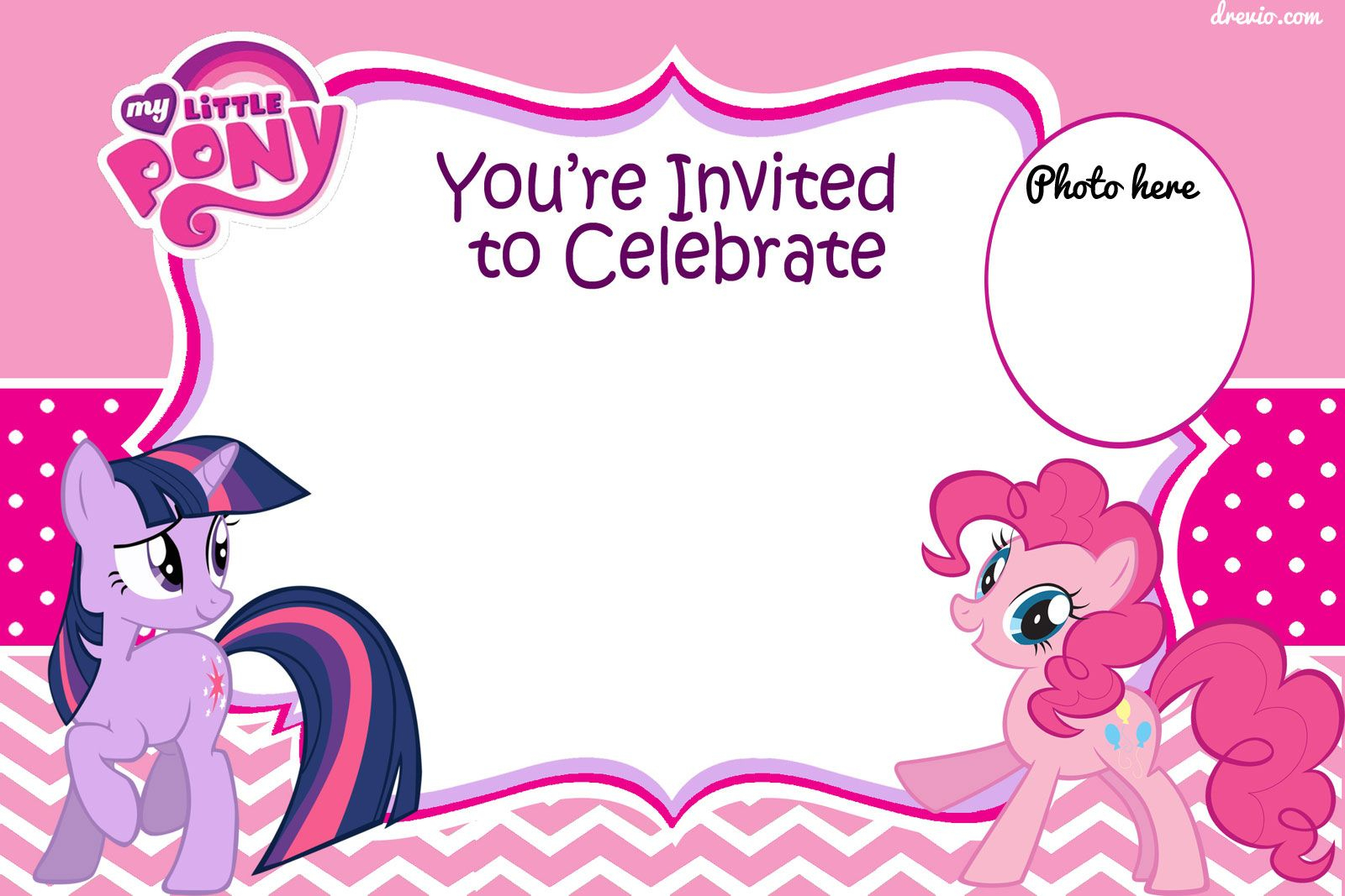 Free Printable My Little Pony Birthday Invitation | Graphics - Free Printable My Little Pony Thank You Cards
