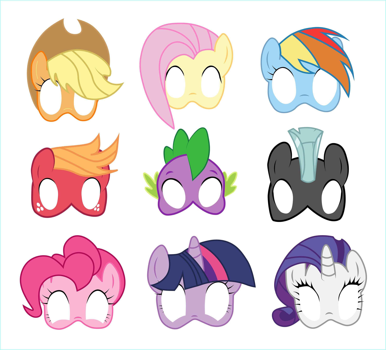 Free Printable My Little Pony Masks - 3.15.kaartenstemp.nl • - Free My Little Pony Printable Masks