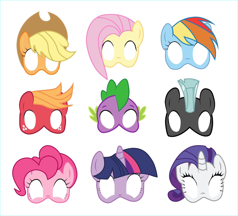 Free Printable My Little Pony Masks - 3.15.kaartenstemp.nl • - Free Printable Wizard Of Oz Masks