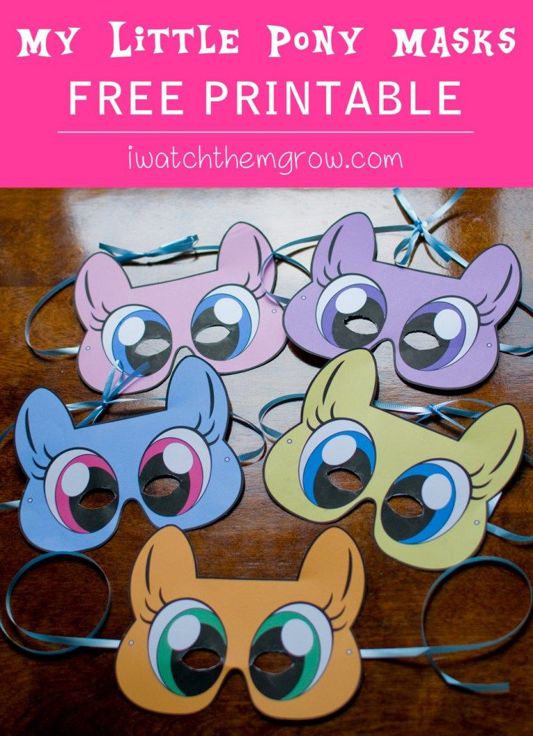 Free Printable My Little Pony Masks | Mlp 6Th Birthday! | Little - Free My Little Pony Printable Masks