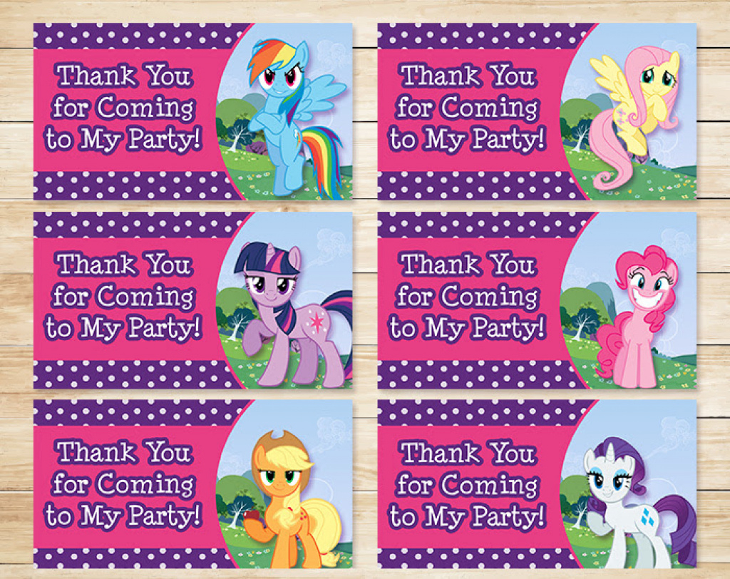 Free Printable My Little Pony Party Tags ~ Free My Little Pony - Free Printable My Little Pony Thank You Cards