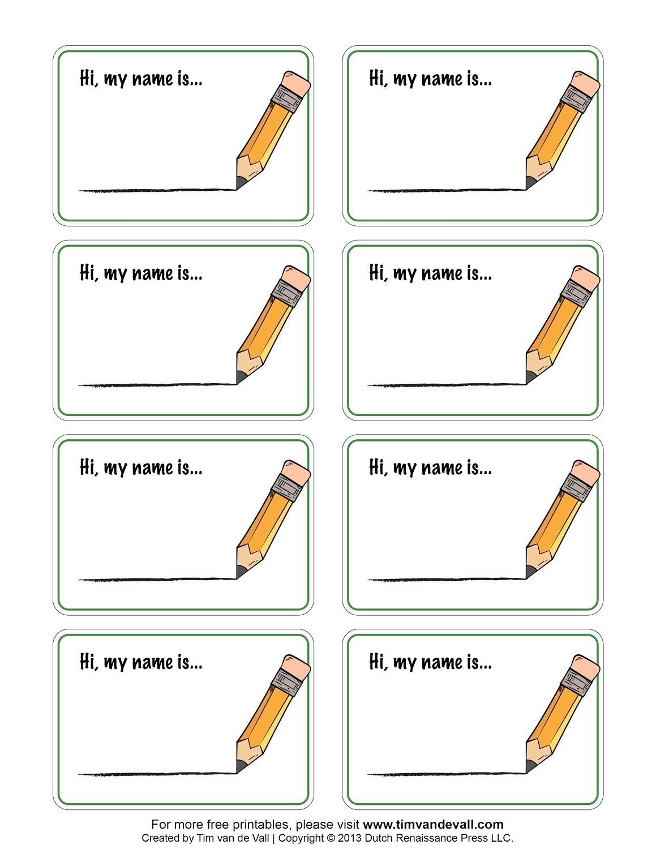 Free Printable Names Free Printable Name Tags Template Free - Free Printable Name Tags For Preschoolers