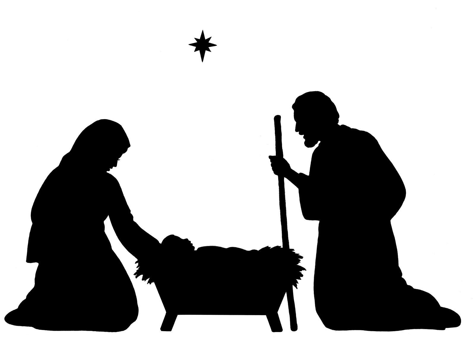 Free Printable Nativity Silhouette Pattern - Free Printable Nativity Silhouette