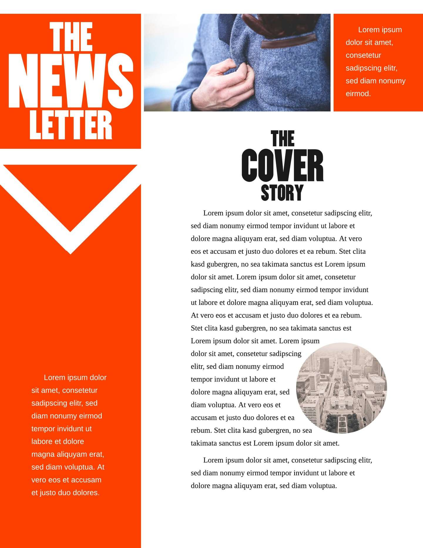Free Printable Newsletter Templates & Email Newsletter Examples - Free Printable Newsletter Templates