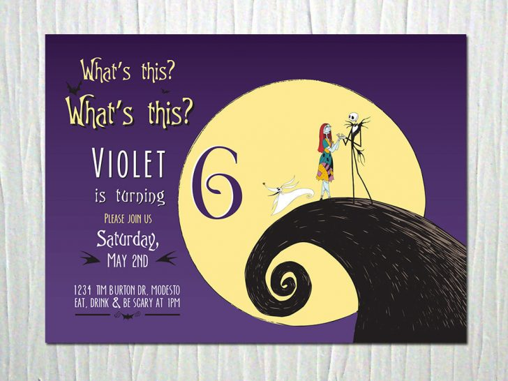 Free Printable Nightmare Before Christmas Birthday Invitations