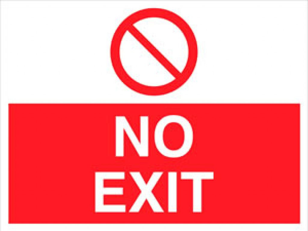 Free Printable Not An Exit Sign | Free Printable - Free Printable Not An Exit Sign
