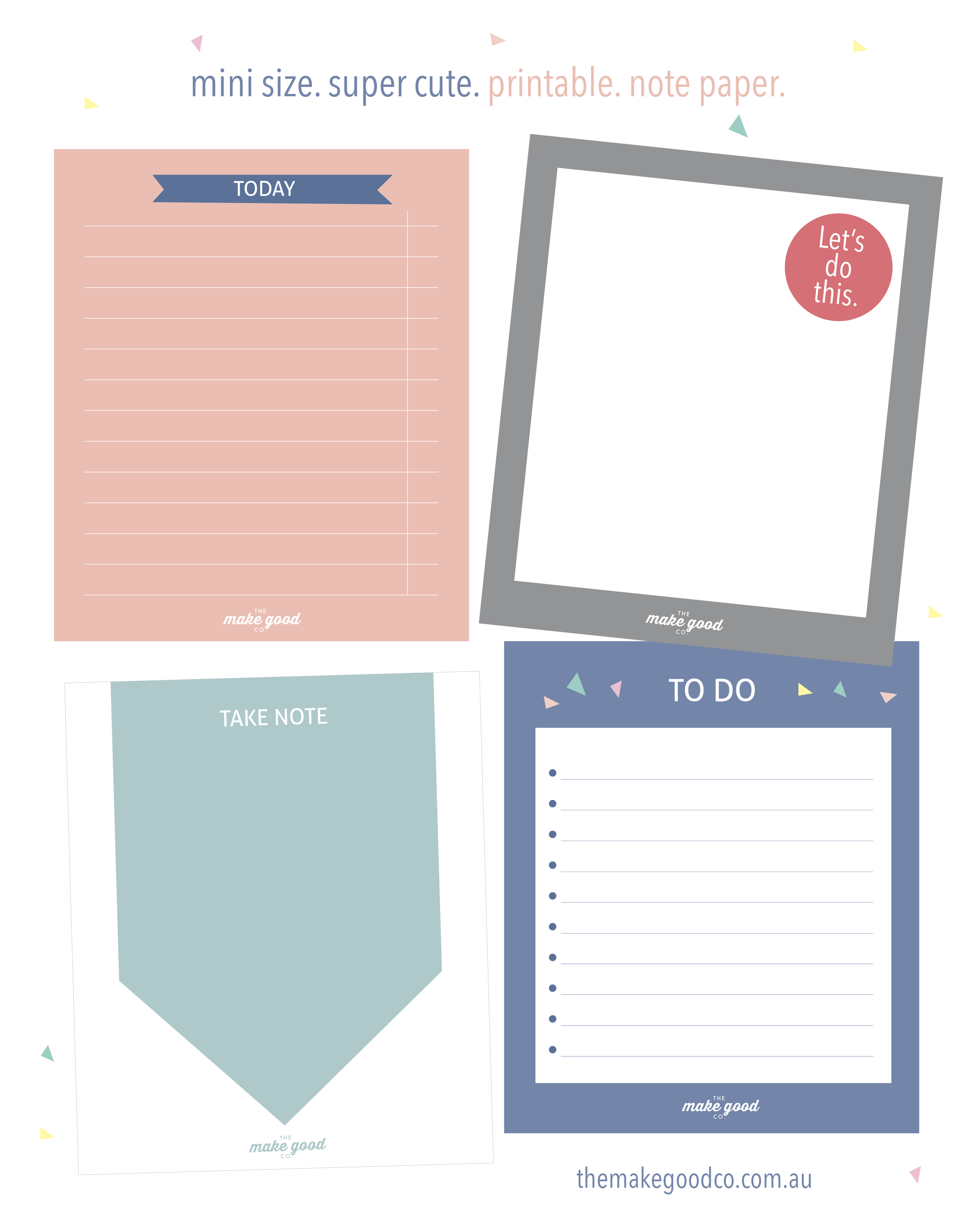 Free Printable Note Paper For Your Planner - Instant Download | Free - Free Printable Australian Notes