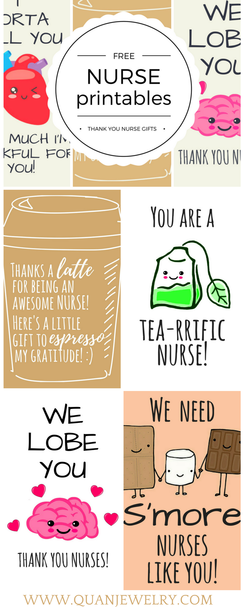 Free Printable Nurse Appreciation Thank You Cards | Gifts For Nurses - Free Printable Days Of The Week Cards