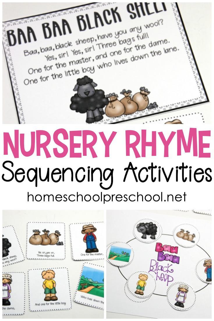 Free Printable Nursery Rhyme Sequencing Cards And Posters - Free Printable Nursery Rhymes