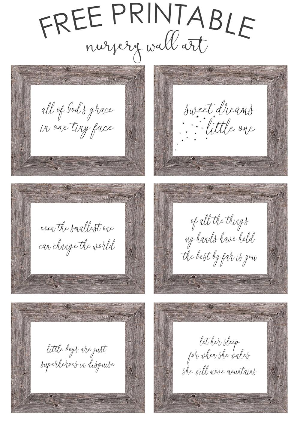 Free Printable Nursery Wall Art - The Girl Creative - Free Printable Wall Art Decor