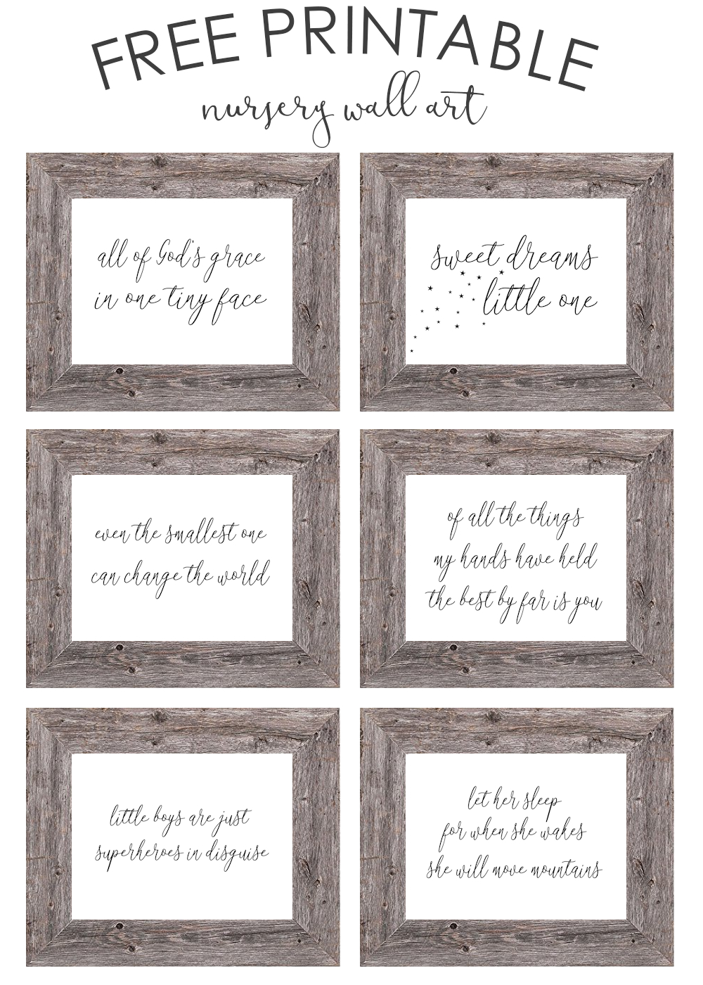 Free Printable Nursery Wall Art - The Girl Creative - Free Printable Wall Art Prints