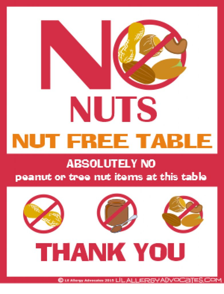 Free Printable Nut Free School Signs - Lil Allergy Advocates With - Printable Peanut Free Classroom Signs