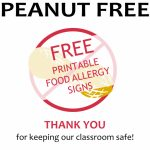 Free Printable Nut Free School Signs   Lil Allergy Advocates With   Printable Peanut Free Classroom Signs