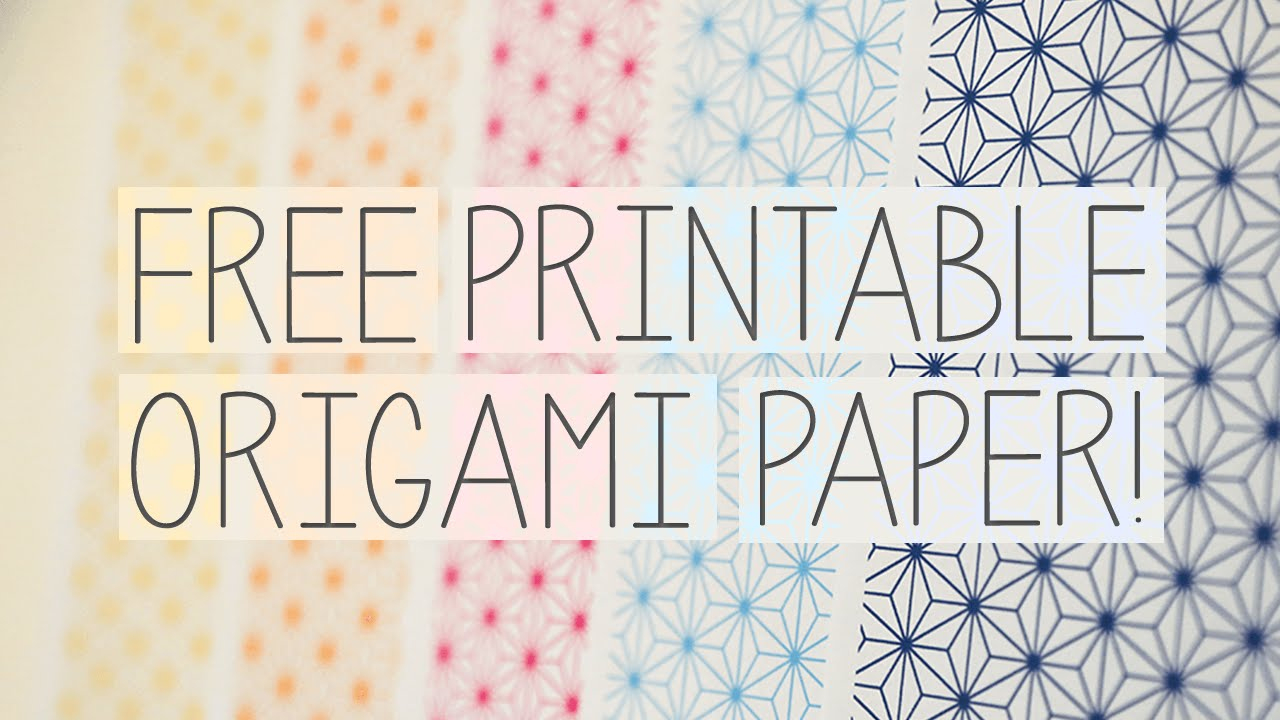 Free Printable Origami Papers From Paper Kawaii 💗 - Youtube - Printable Origami Instructions Free