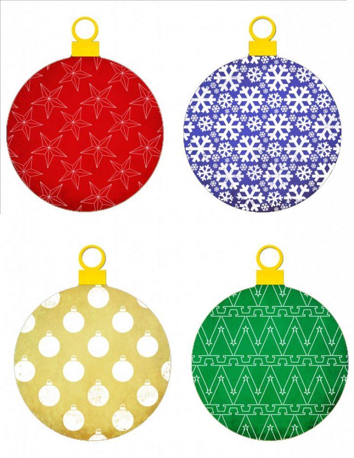 Free Printable Christmas Tree Ornaments To Color