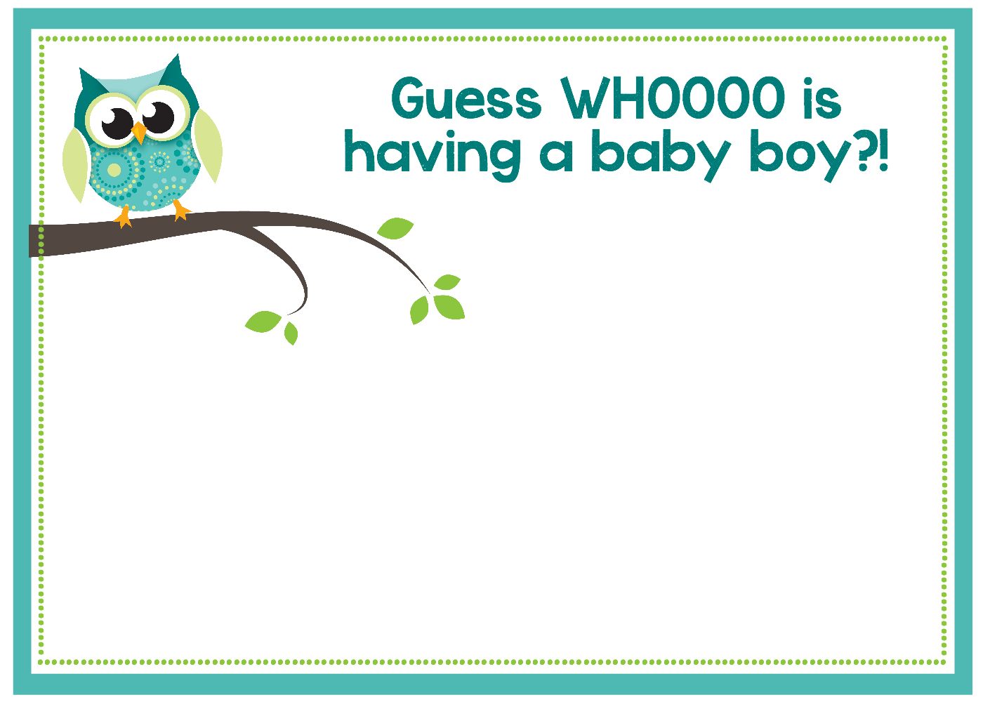 Free Printable Owl Baby Shower Invitations {& Other Printables} - Free Baby Boy Shower Invitations Printable