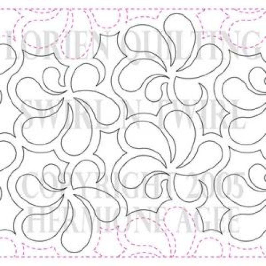 Free Printable Pantograph Patterns | Free Printable - Free Printable Pantograph Quilting Patterns